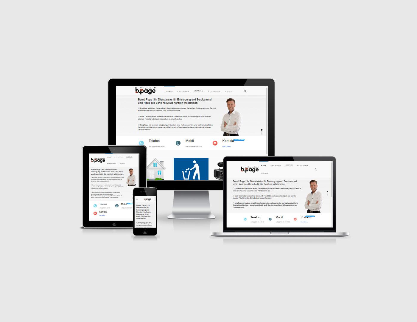 Webdesign Bad Neuenahr-Ahrweiler hat eine neue Webseite für Entsorgungsunternehmen Page erstellt